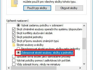 Zobrazení skrytých souborů ve Windows 10 3