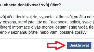 Jak zrušit Facebook účet a smazat profil 5