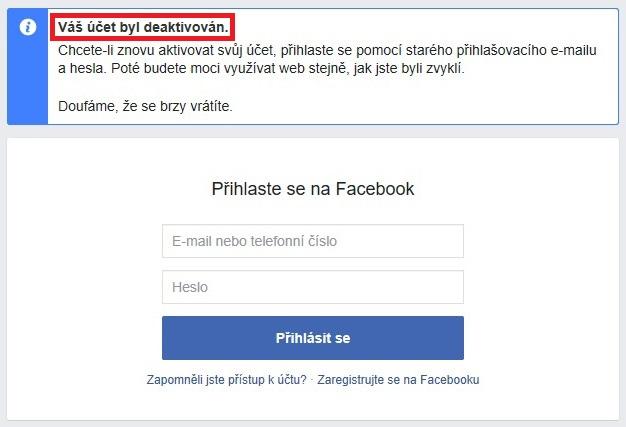 Jak zrušit Facebook účet a smazat profil 6