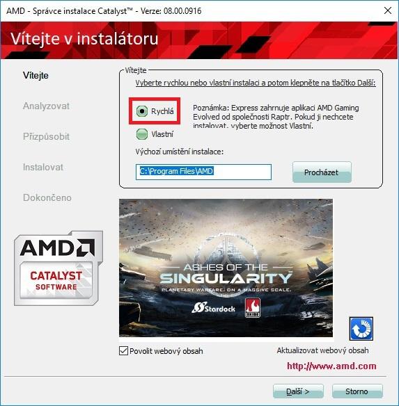 Jak aktualizovat ovladač grafické karty Amd 09