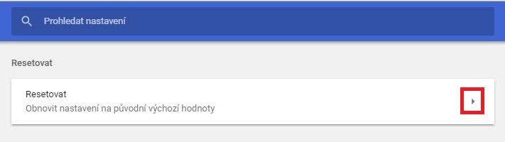 Jak resetovat Google Chrome 3