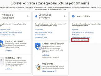 Jak zrušit - smazat účet na google 1