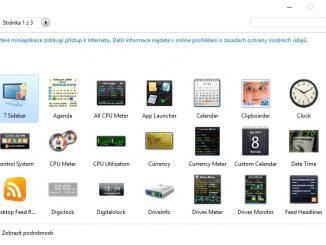 Miniaplikace na plochu Windows 10 12