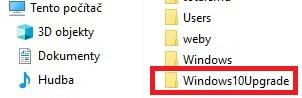 windows10upgrade složka smazání 1