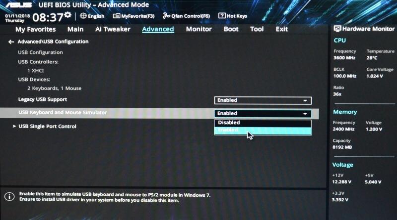 Asus Prime B250M-K základní deska - bios nastavení 08