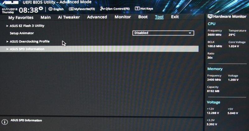 Asus Prime B250M-K základní deska - bios nastavení 11