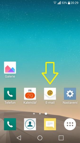Jak nastavit email v mobilu 01