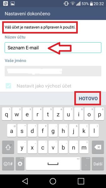 Jak nastavit email v mobilu 09