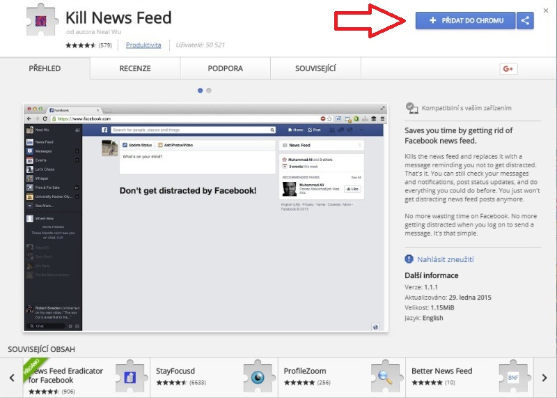 Kill News Feed - Google Chrome