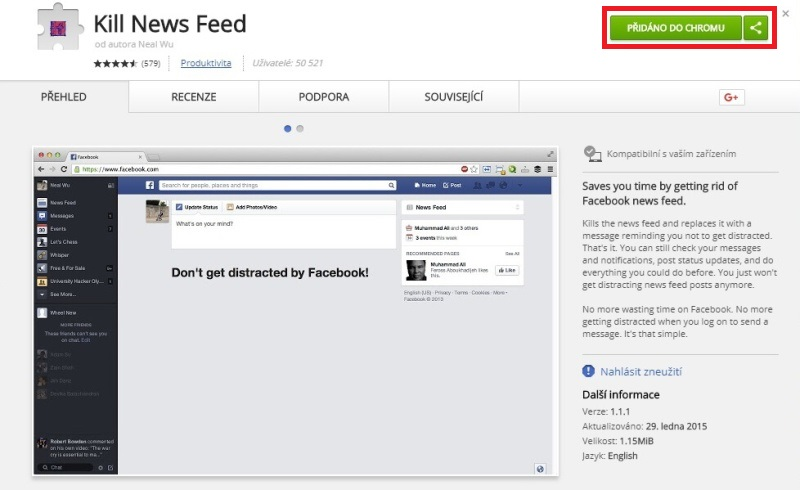 Kill News Feed - Google Chrome 3