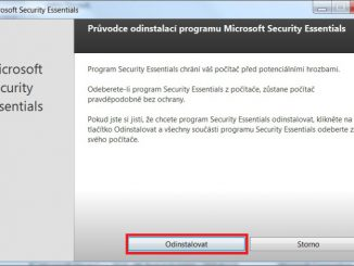 microsoft security essentials - odinstalace 02