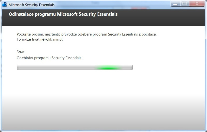 microsoft security essentials - odinstalace 03