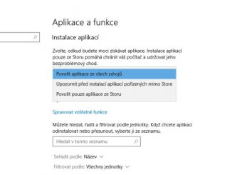 Windows 10 instalace aplikací ve Store