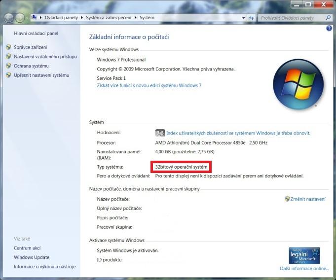 windows 7 32 bit verze 2