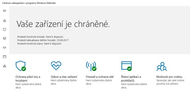 Windows Defender pro Win 10 01