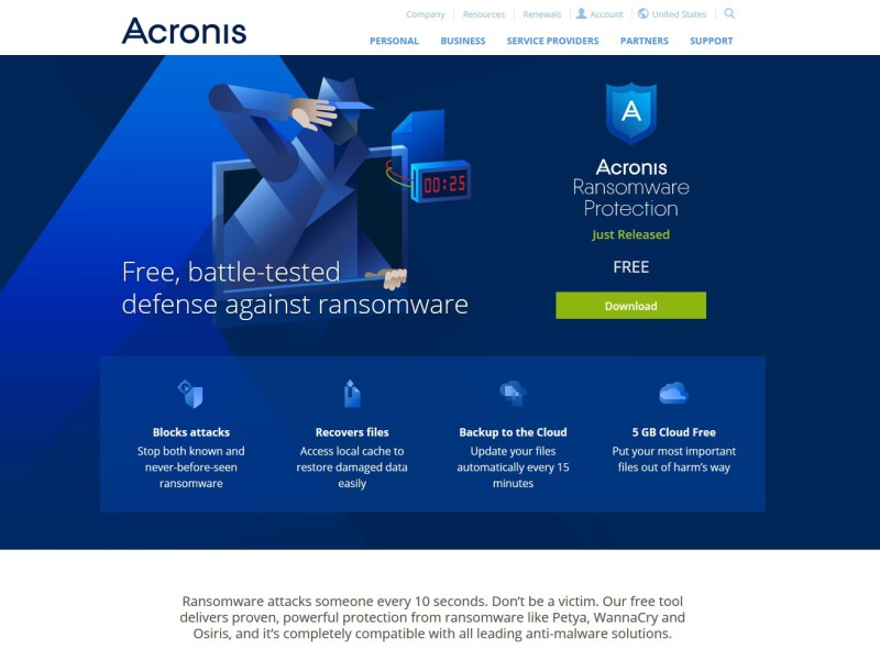 Acronis ransomware protection 0