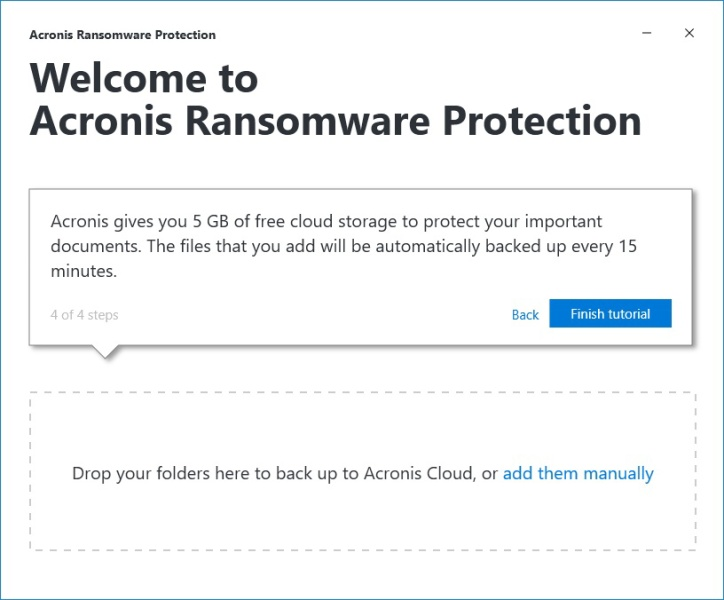 Acronis ransomware protection 10