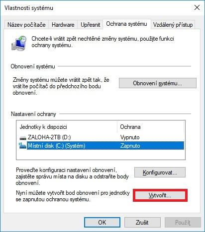 Bod obnovení Windows 10 – 10