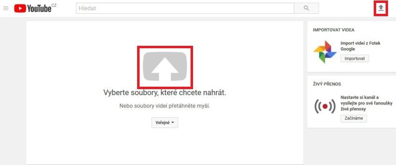 Jak nahrát video na Youtube