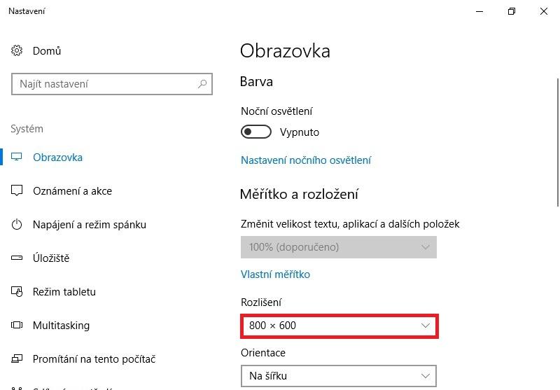 Jak zmenšit obrazovku na pc ve Windows 10 5