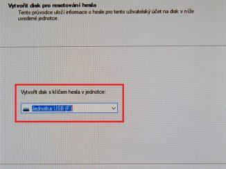 Disk pro resetování hesla ve Windows 10 3