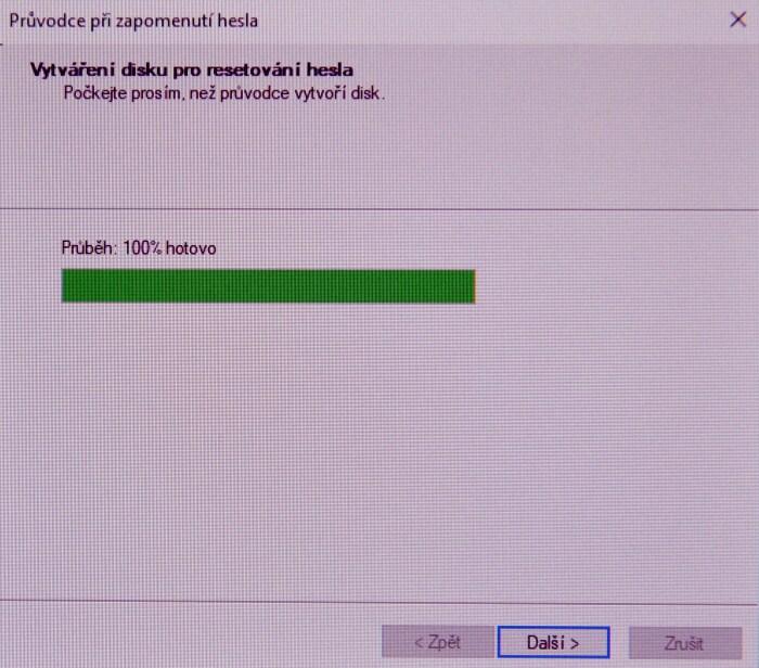 Disk pro resetování hesla ve Windows 10 5