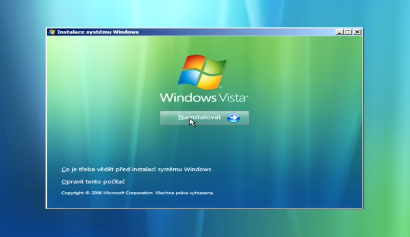 instalace windows vista