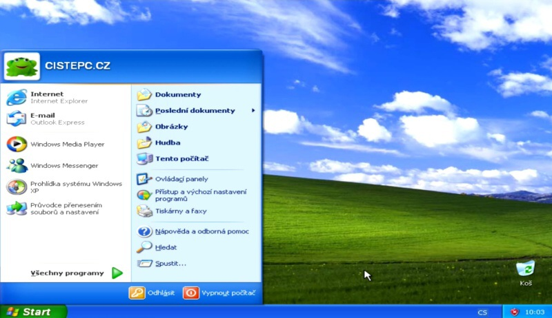 instalace windows xp