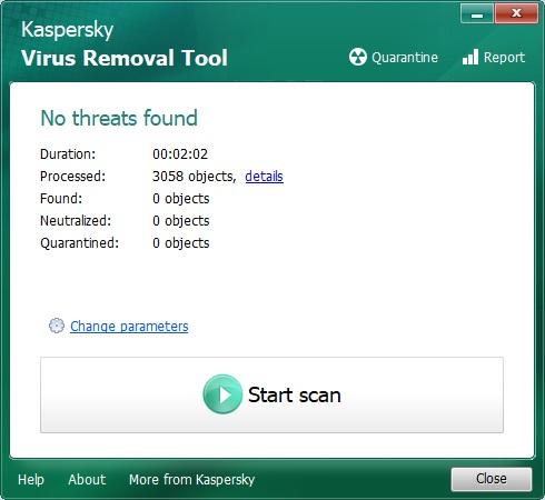 Kaspersky Virus Removal Tool 6