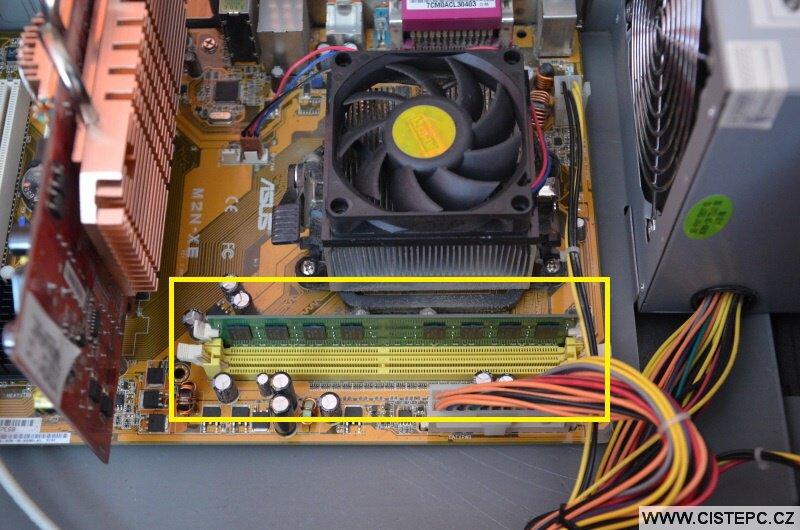 Přidání operační paměti RAM do počítače 2