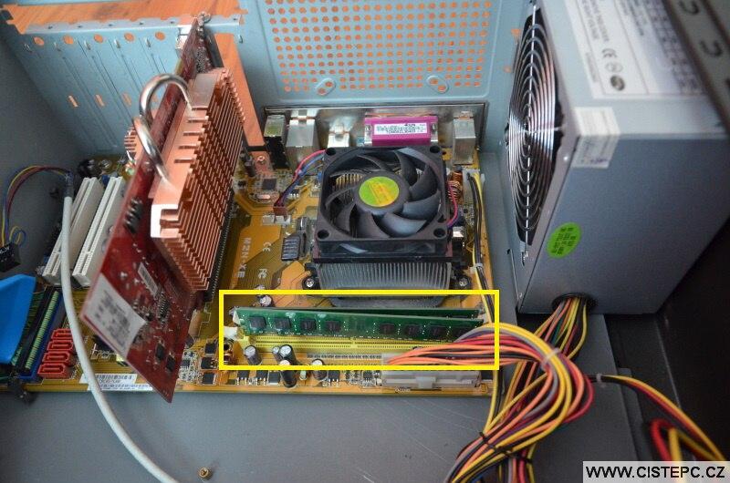 Přidání operační paměti RAM do počítače 4