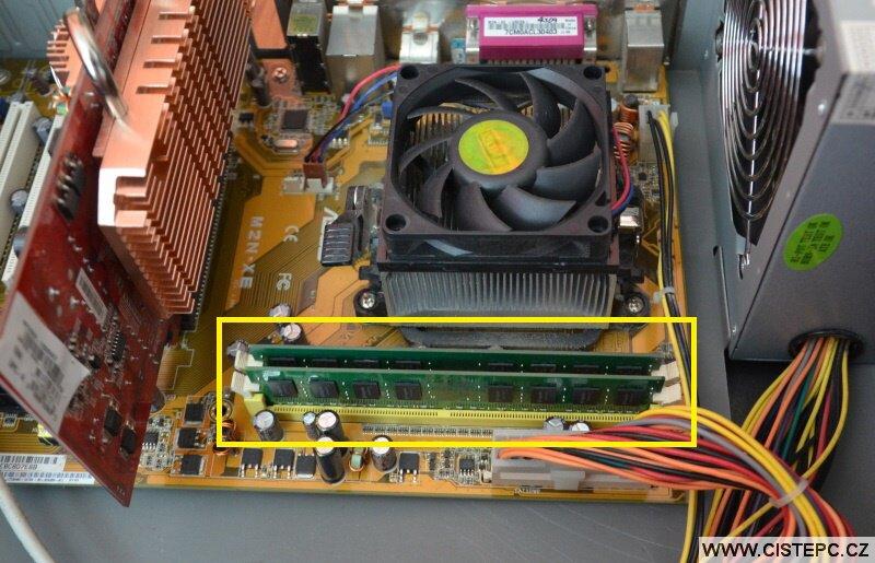 Přidání operační paměti RAM do počítače 5