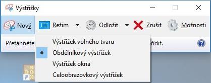 Výstřižky Windows 10 4