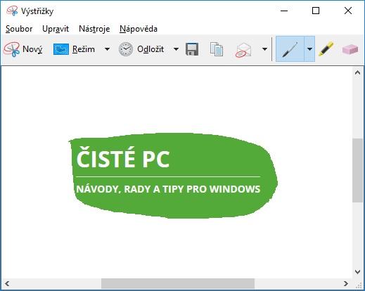 Výstřižky Windows 10 6