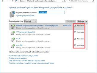 DLNA sdílení Windows 10 - 05