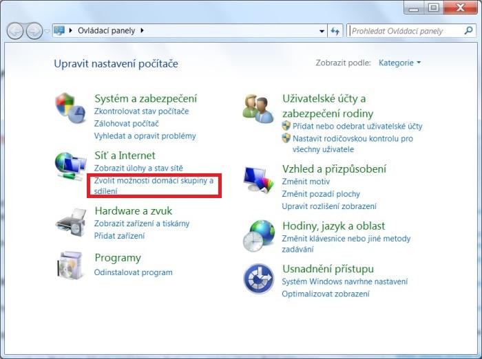 DLNA ve Windows 7. Nastavení, připojení, sdílení