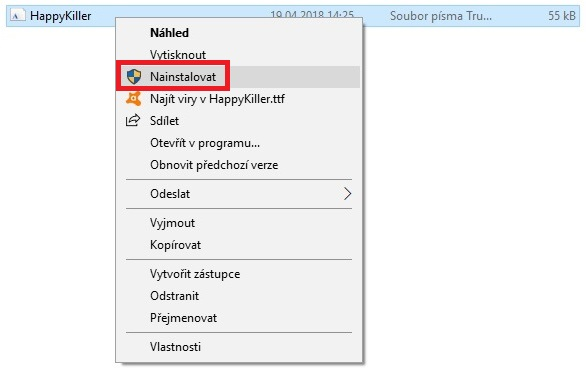 Jak nainstalovat fonty - písma do Windows 10 - 3