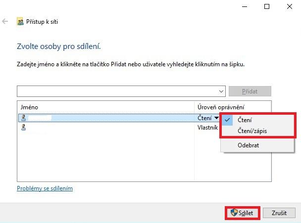Sdílená složka ve Windows 10 - 3