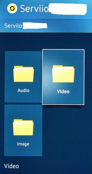 Serviio nastavení ve smart tv samsung 2