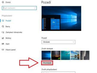 Tapeta jako pozadí pc - windows 10 2