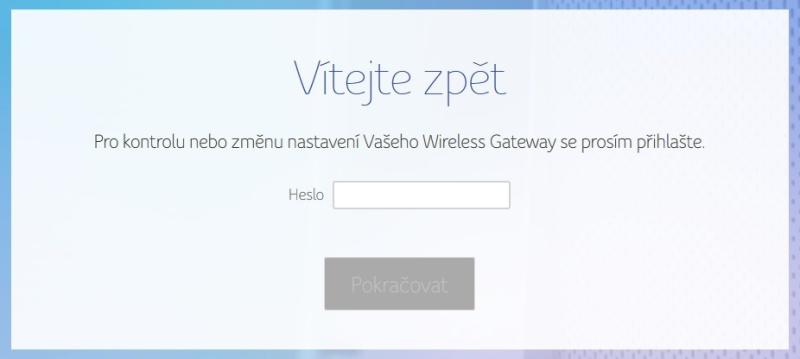 Změna hesla Wifi UPC