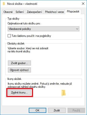 Změna ikony složky na ploše Windows 10 – 2