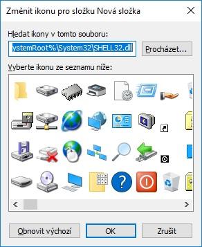Změna ikony složky na ploše Windows 10 - 3
