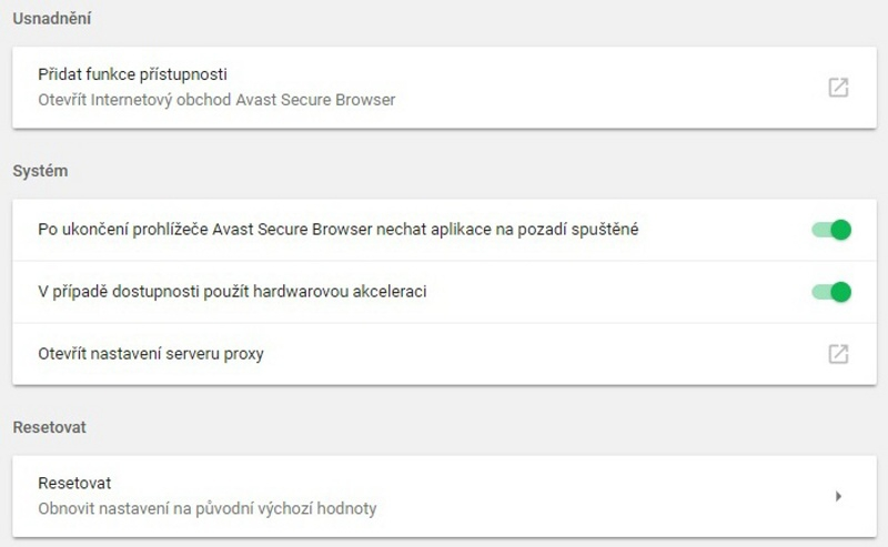 Avast Secure Browser 09