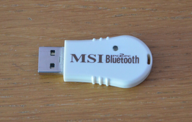 Bluetooth přijímač – adaptér MSI