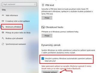 Dynamický zámek Windows 10
