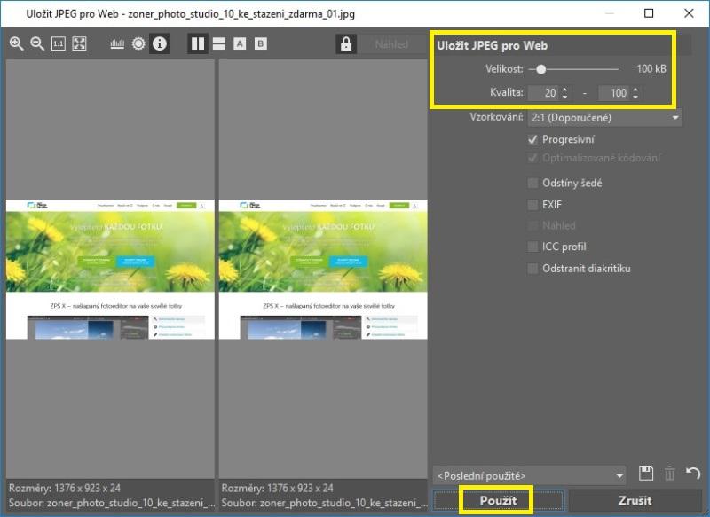 Jak zmenšit velikost fotky a obrázku 3