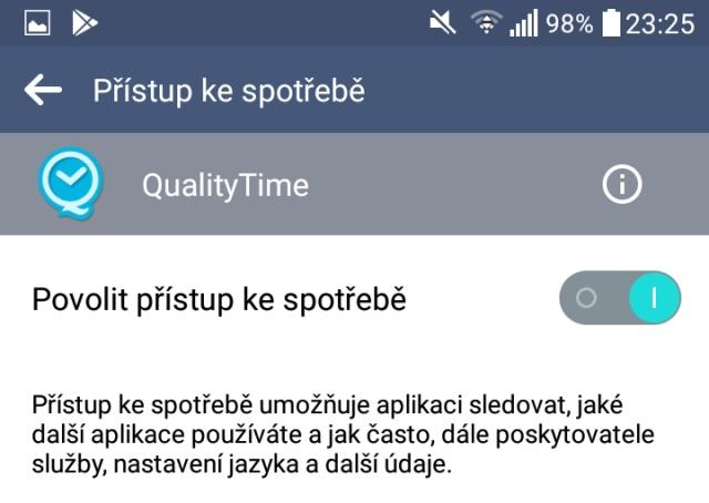 Quality Time aplikace 03