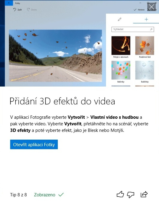 Jarní aktualizace Windows 10 – April update 2018 – 62