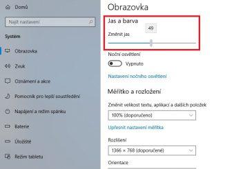 Jak nastavit jas na displeji notebooku ve Windows 10 - 02